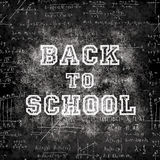 Freehand chalk writing and drawing. Stock Images