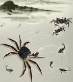 Freehand crab Royalty Free Stock Photo