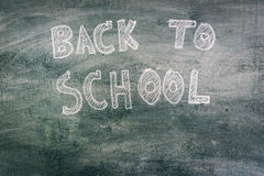 .Freehand drawing Back to school on chalkboard. Freehand drawing Back to school on chalkboard Stock Photography