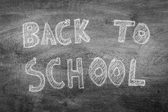 Freehand drawing Back to school on chalkboard ,Filtered image pr. Ocessed black and white effect Stock Photography