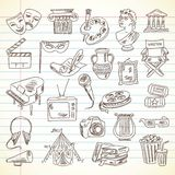 Freehand drawing Culture and Art items Royalty Free Stock Photography