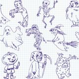 Freehand drawing halloween Stock Photos