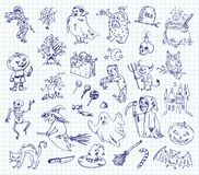 Freehand drawing halloween Royalty Free Stock Image