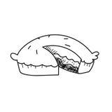 Freehand drawing illustration of cake Stock Photo