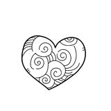 Freehand drawing illustration of heart Royalty Free Stock Images