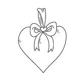 Freehand drawing illustration of heart Royalty Free Stock Photo