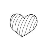 Freehand drawing illustration of heart Royalty Free Stock Photography