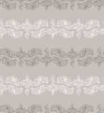 Freehand drawing of lilies. Seamless pattern Royalty Free Stock Photos