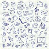 Freehand drawing school items. Back to School Royalty Free Stock Image