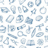 Freehand drawing school items. Stock Photo