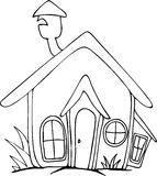 Freehand drawn cartoon house. Doodle Freehand drawn cartoon house stock illustration