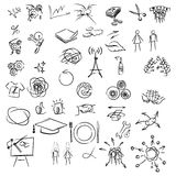 Freehand elements for design. Illustration Royalty Free Stock Photography