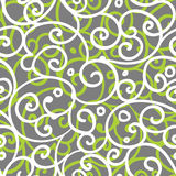 Freehand floral motifs seamless pattern Stock Image