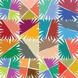 Freehand gęste markier linie opierali się kwiaty, abstrakcjonistyczna tekstura w żywych kolorach, Zdjęcia Royalty Free