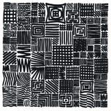 Freehand gęsty markier wykłada zasadzoną siatkę jak abstrakcjonistyczna tekstura w czerni na bielu, Obrazy Stock