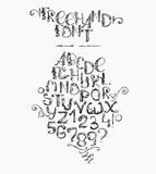 Freehand handdrawn alphabet,  on white background.  Stock Photography