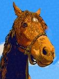 Freehand horse head art design illustration abstract drawing. Ffreehand horse head art design design illustration good for any design. A very funny illustration Royalty Free Stock Image