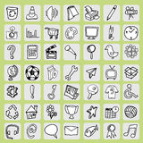 Freehand icon set Stock Photo