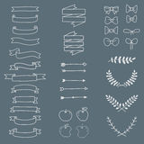 Freehand icon set minimal style, vector Stock Image