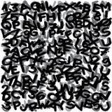 Freehand - markier rysujący pisze list i liczby heblują przypadkowy rozdzielonego ilustracja wektor