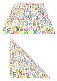 Freehand - markier rysujący pisze list siatkę zniekształcającą na 3D samolocie i liczy royalty ilustracja
