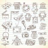 Freehand rysunku sztuki i kultury rzeczy royalty ilustracja
