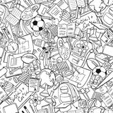 Freehand school items in a pile Royalty Free Stock Photo