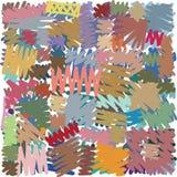 Freehand skrobaniny opierać się pokrywający się markiera linia opierającego się wzór ilustracji