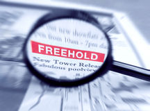 Freehold residential property Royalty Free Stock Photos