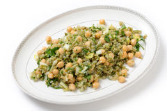 Freekeh and chickpea salad Stock Image