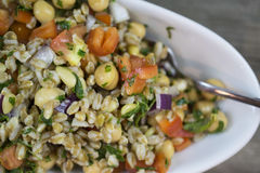 Freekeh Minted l'insalata Immagine Stock
