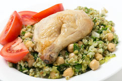 Freekeh salad with chicken Royalty Free Stock Photos