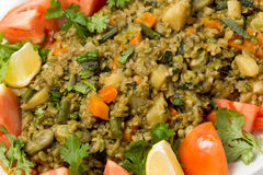 Freekeh vegetable pilaf closeup Royalty Free Stock Photography