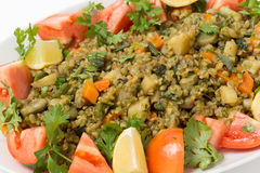 Freekeh vegetable pilaf macro Stock Images