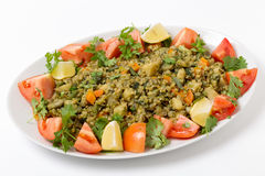 Freekeh vegetable pilaf Royalty Free Stock Photography