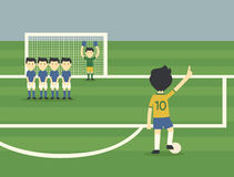 Freekick. Player Brazil football player freekick Stock Photo