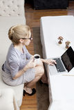 Freelance business woman Royalty Free Stock Images