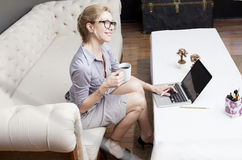 Freelance business woman Stock Photography
