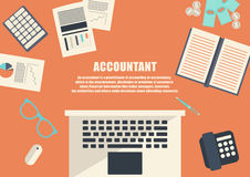 Freelance career. Accountant Stock Photo