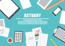 Freelance career. Actuary Stock Photos