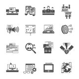 Freelance concept black icons collection Stock Images