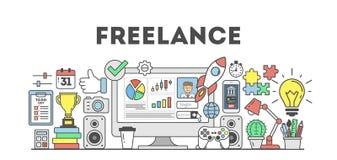 Freelance concept illustration. vector illustration