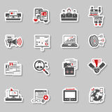 Freelance concept stickers collection Stock Photography