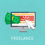 Freelance icon Stock Images