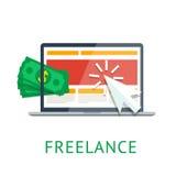 Freelance icon Stock Photo