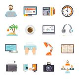 Freelance Icon Flat Royalty Free Stock Image