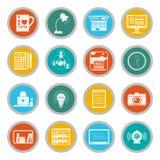 Freelance icons flat set Royalty Free Stock Images