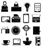 Freelance icons set Royalty Free Stock Image
