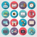 Freelance ikony mieszkanie ilustracji