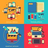 Freelance infographic. Royalty Free Stock Image